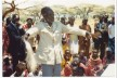 Paulo Lobur gives a Kenyan blessing at the end of Holy Communion, following the confirmation of a group of Turkana women at Isiolo, Kenya, June 1985