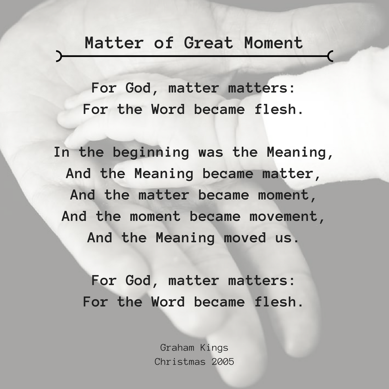 Matter of great  moment